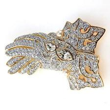 Swarovski Swan Signed Opera Wedding Gloves Brooch Mint Elegant 262
