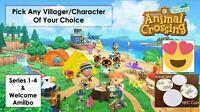 Animal Crossing New Horizons Amiibo NFC Tags/Coins! Choose Any Villager!