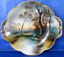 Nippon Authentic Antique Gorgeous Japanese Porcelain Hand Painted Landscape Dish