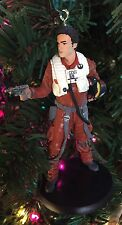 "Poe Dameron Ornament OOAK Star Wars Force Awakens Disney 3"" Custom Christmas"