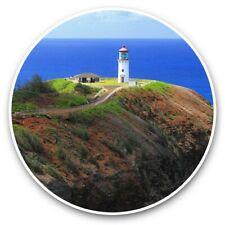 2 x Vinyl Stickers 30cm - Hawaii Kilauea Point Lighthouse USA  #45306