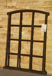 Großes Stallfenster, Fenster,Gussfenster, Eisenfenster,Antikfenster, Gartenmauer