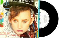 """CULTURE CLUB - MISS ME BLIND / COLOUR BY NUMBERS - RARE PROMO 7""""45 RECORD PICSLV"""
