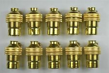 10 brass bayonet B22 bulb holder earth lamp holder shade ring 1/2 inch entry L3