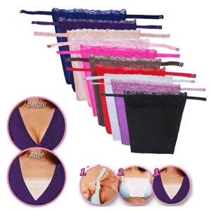 Cami Secret Clip-on Lace Mock Camisole Bra Inserts Overlay Modesty Panels 1PC