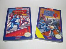 Mega Man 2 & 3 (Nintendo, 1989) NES Complete CIB *Box Variants* VHTF & VGC