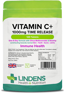 Vitamin C+ 1000mg + Rosehip Bioflavonoids Slow Time Release Tablets (120 pack)
