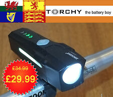 Xeccon Striver 600 Lumen USB Road,  MTB front Light with side visibility