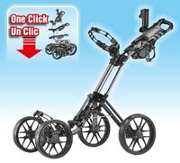 Black Caddytek Explorer One-Click 4-Wheel Golf Push Cart