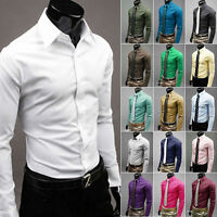 Mens Fashion Luxury Stylish Casual Dress Slim Fit T-Shirts Casual Long Sleeve