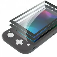 2pcs Gray Border Tempered Glass Screen Protector Film for Nintendo Switch Lite