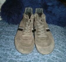 unworn BIKKEMBERGS GREY SUEDE LACE-UP SHOES ANKLE BOOTS SNEAKERS sz: 42  8