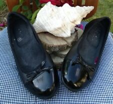 Skechers Women's Black Leather MaryJanes Work Shoe