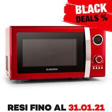 Promo Forno Microonde Klarstein Moderno Cucina Design Timer Grill Scongela Rosso