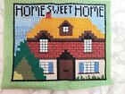 """Vintage Tapestry Cross stitch - Home Sweet Home cottage 12.5 x 10"""""""