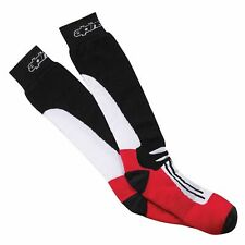 Alpinestars Racing Road Motorcycle / Motorbike Summer Socks - Black/Red.  S - M