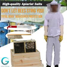 New Professional Beekeeper Suit Include Jacket Pants Gloves Scraper Brush Us