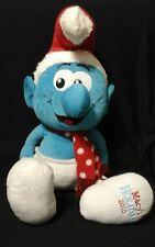 "Macy's Holiday 2010 Christmas Santa SMURFS Plush Doll 22"""