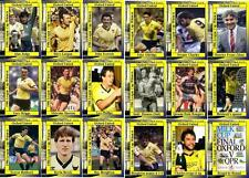 Oxford United 1986 Football League Cup final winners football trading cards
