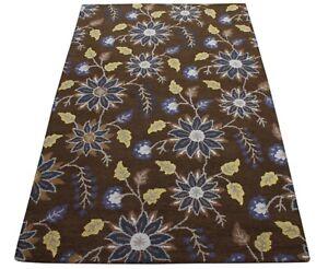 Braun Carpet 100% Wool Oriental Rug 150x240 CM Hand Woven MH942