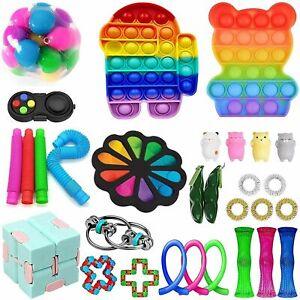 30 Sensory Bundle Fidget Toys Set Stress Relief Kids Adults Silicone Squeeze Toy