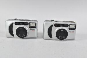h12d95- 2x Minox CD 140 Analog Kamera, Objektiv Minoctar 38-140 mm