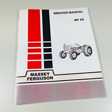 65 Massey Ferguson Tractor Technical Service Shop Repair Manual MF65 MF