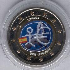 España 2 Euros 2009 @@ EMU @@ ESMALTADA @@ coloreada @@ Nº 3 A @@