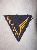 Ecusson EETAA Ecole d'Enseignement Technique de l'Armée de l'Air ancienne fabr.