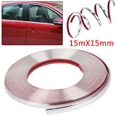 More details for 15mm x 15m chrome styling moulding trim strip self adhesive - metre meter window