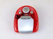 Fm Scan Radio w/Earbuds, Transparent Red Case, Led Flashlight, Belt Clip #Dp-599