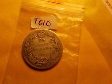 Canada 1912 25 Cent Rare Silver Coin ID#T610.