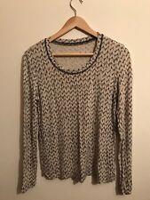 OSKA beige/black knit print lagenlook floaty boho arty top Size 0