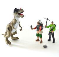 Chap mei DINO VALLEY Rare Dinosaur playset - x3 figure tyranossaurus baby t-rex