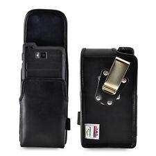 Turtleback Sonim XP8 Leather Vertical Phone Holster Pouch Case, Metal Belt Clip