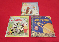 A Big Little Golden Book Lot 1st, 2nd, 4th Editions Vintage 1980s