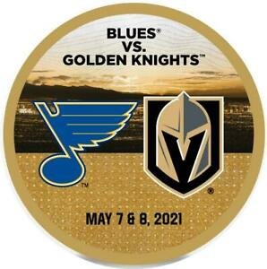 NHL Vegas Golden Knights Vs SL Blues PUCK 5/7&8/2021 T-Mobile Arena Exclusive