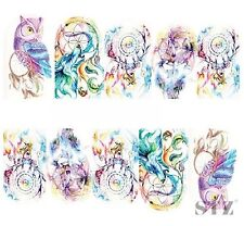 Nail Art Sticker Water Decals Transfer Stickers Mystic Owl Dreamcatchers (DB301)