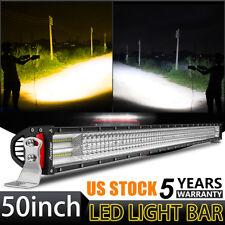 50Inch 4032W Led Spot Flood Work Light Bar 10D Quad Rows Offroad PK 5D 8D 288W