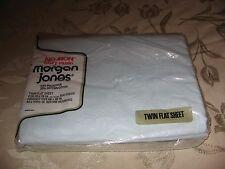 New listing Vintage Twin Flat Sheet Morgan Jones Luxury Muslin 66 By 96 New Blue Mcm Nos
