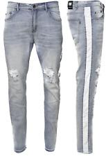 Men's Ripped Jeans Stretch Track Pants Biker Slim Fit Denim Pants Skinny Jeans