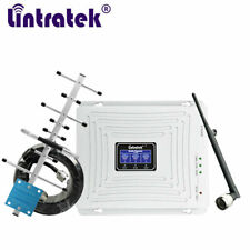 Lintratek 65dB 900/1800/2100mhz Tri Band Mobile Signal Booster 2G 3G 4G Network