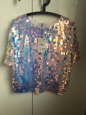 ZARA Oval Sequins Sweater Top SIZE Small BNWT