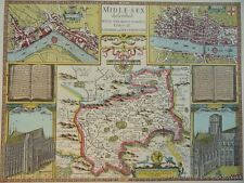 London 1600 Map.Antique European Maps Atlases London 1600 1699 Date Range For Sale