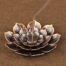 Flower Copper Cone Incense Burner Plate Stick Tower Holder Bowl Decor Buddhism