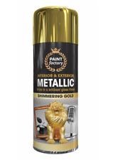 1 x All Purpose Gold Metallic Aerosol Spray Paint Household Car Plastic  400ml