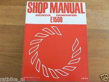 HONDA E1500  SHOP MANUAL FACTORY BOOK GENERATOR POWER K3,K4