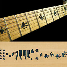 Fret Markers Inlay Sticker Decal Guitar Bass - Cat Foot Print Cat Paw- BP