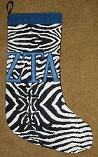 ZETA Tau Alpha ZTA Fraternité tapisserie Chaussette de Noël