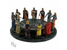 The Knights of the Round Table King Arthur with 12 Knights hand painted.